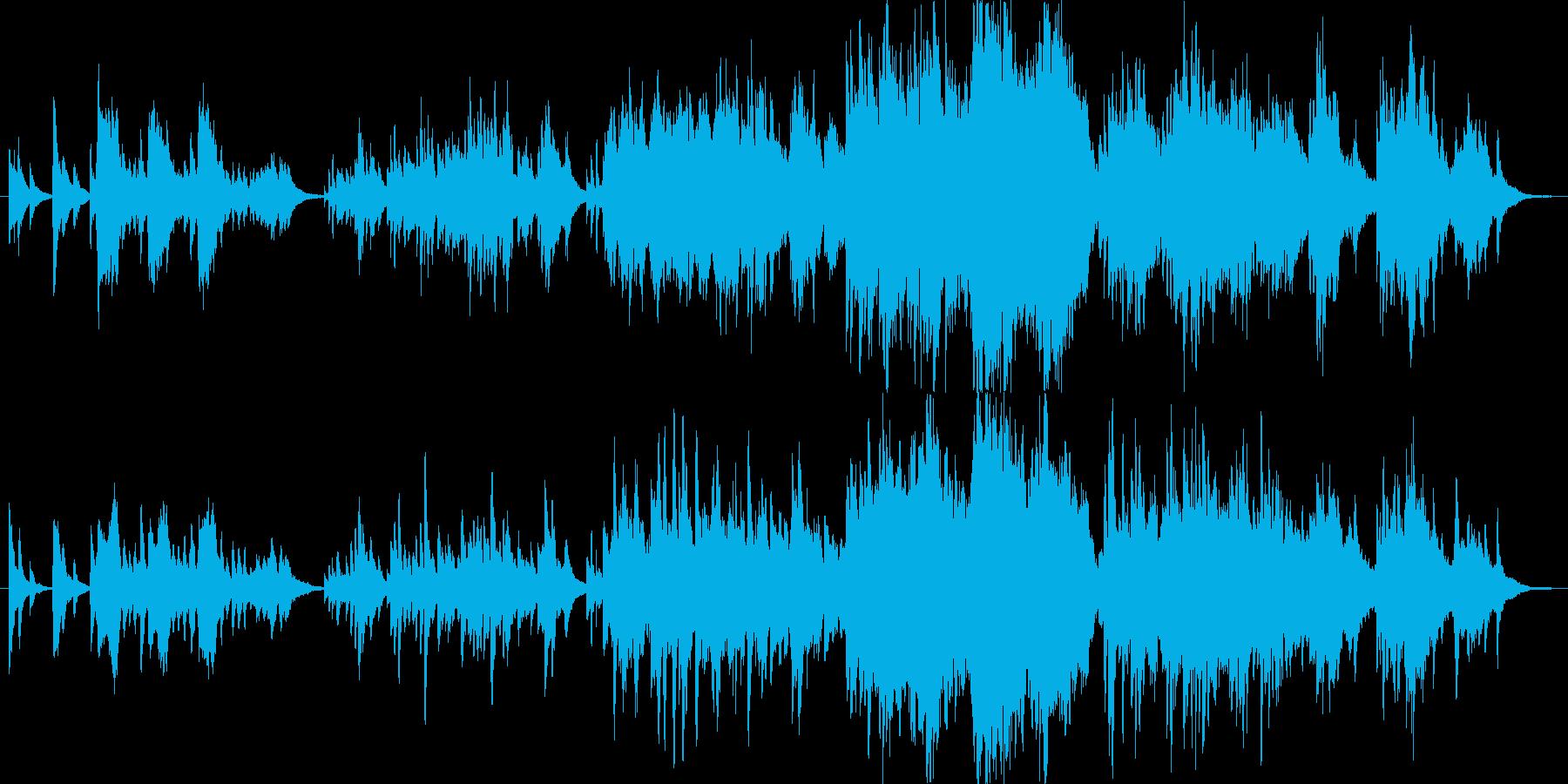 映像的なピアノとストリングス。の再生済みの波形