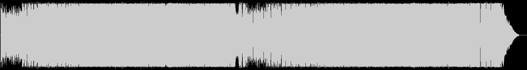 エレキギターの軽快POPロックの未再生の波形