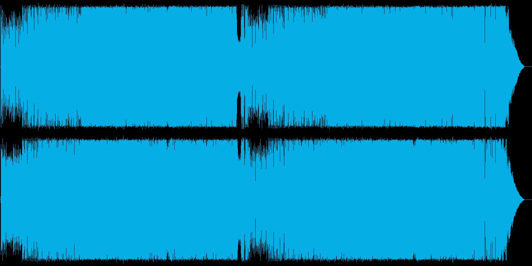 エレキギターの軽快POPロックの再生済みの波形