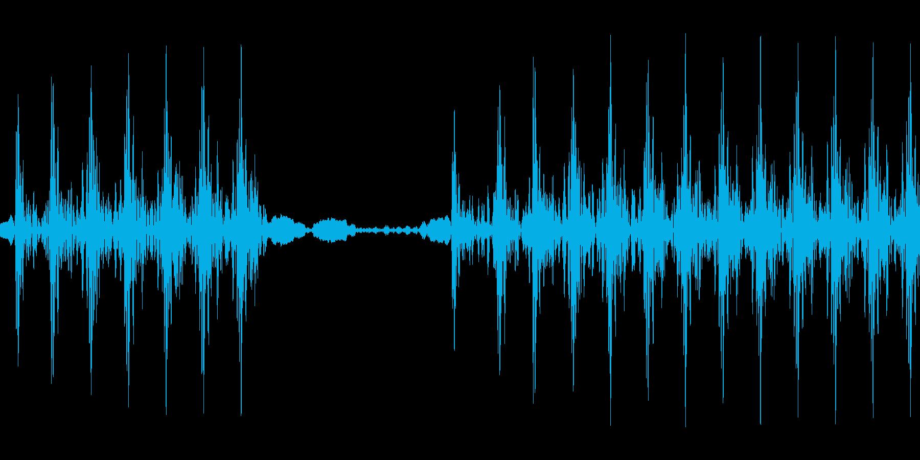 不正解音の再生済みの波形