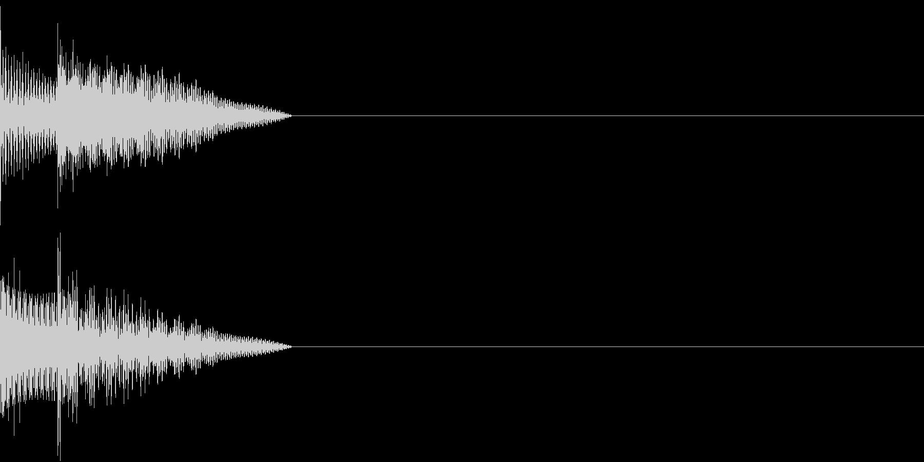 Cursor セレクト・カーソルの音2の未再生の波形