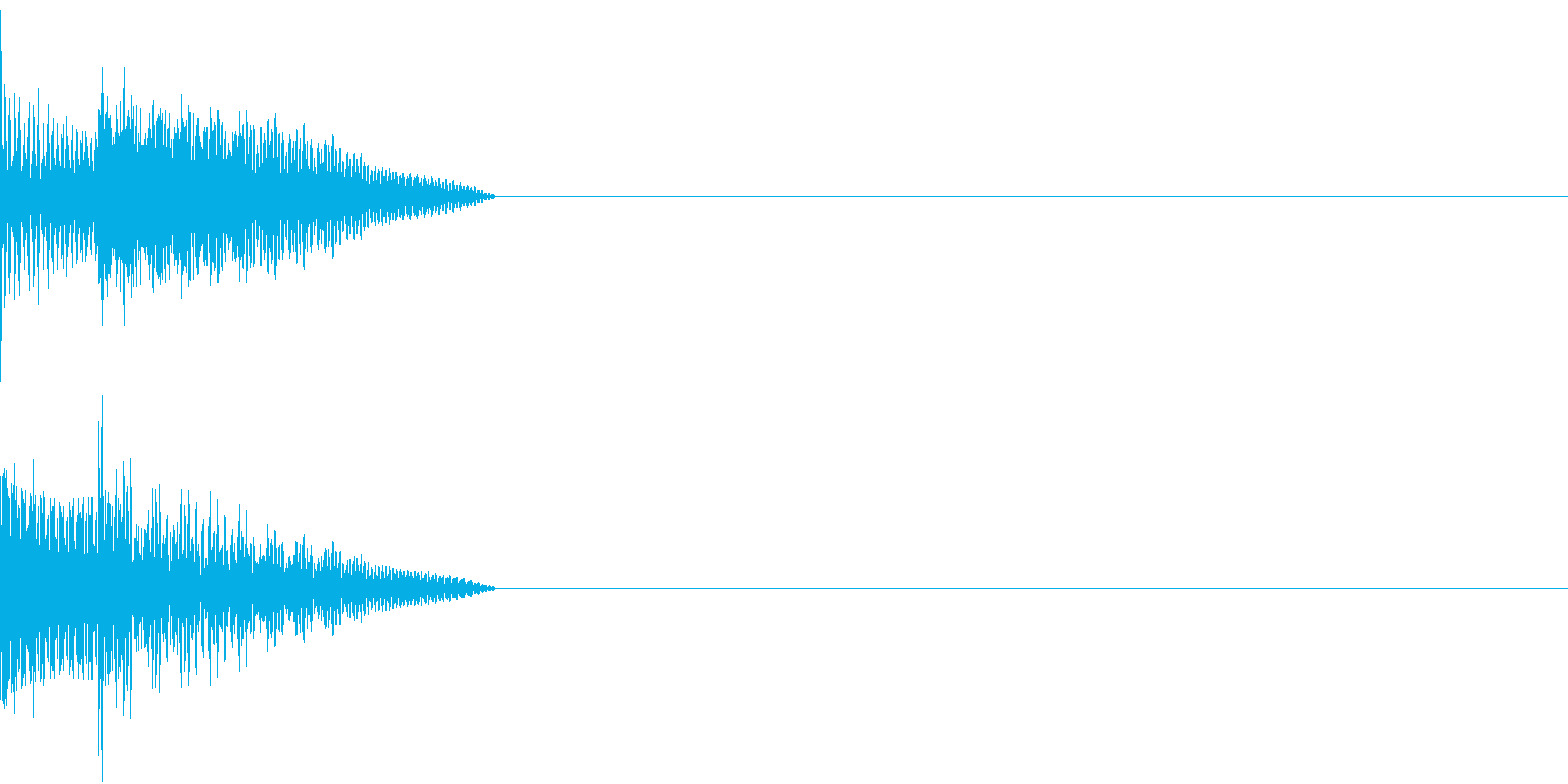 Cursor セレクト・カーソルの音2の再生済みの波形