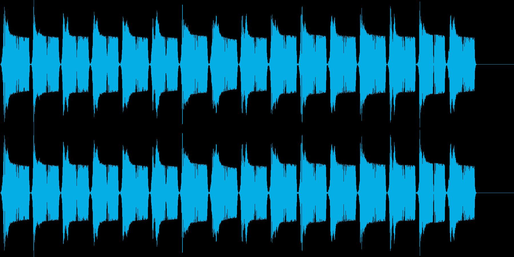 ピュピュ..。冷汗・震える音B(長め)の再生済みの波形