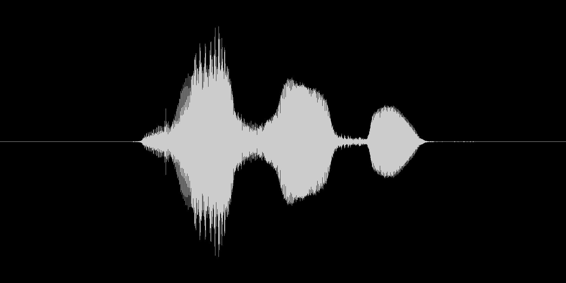 ぐふふ(不気味な笑い声)の未再生の波形