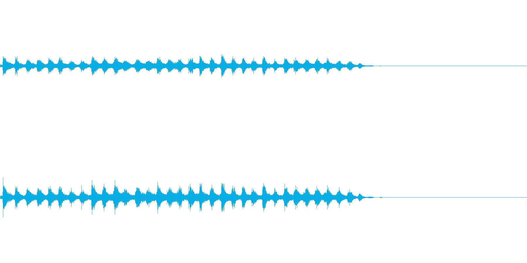 『チャッパ』和製シンバルのフレーズ3FXの再生済みの波形