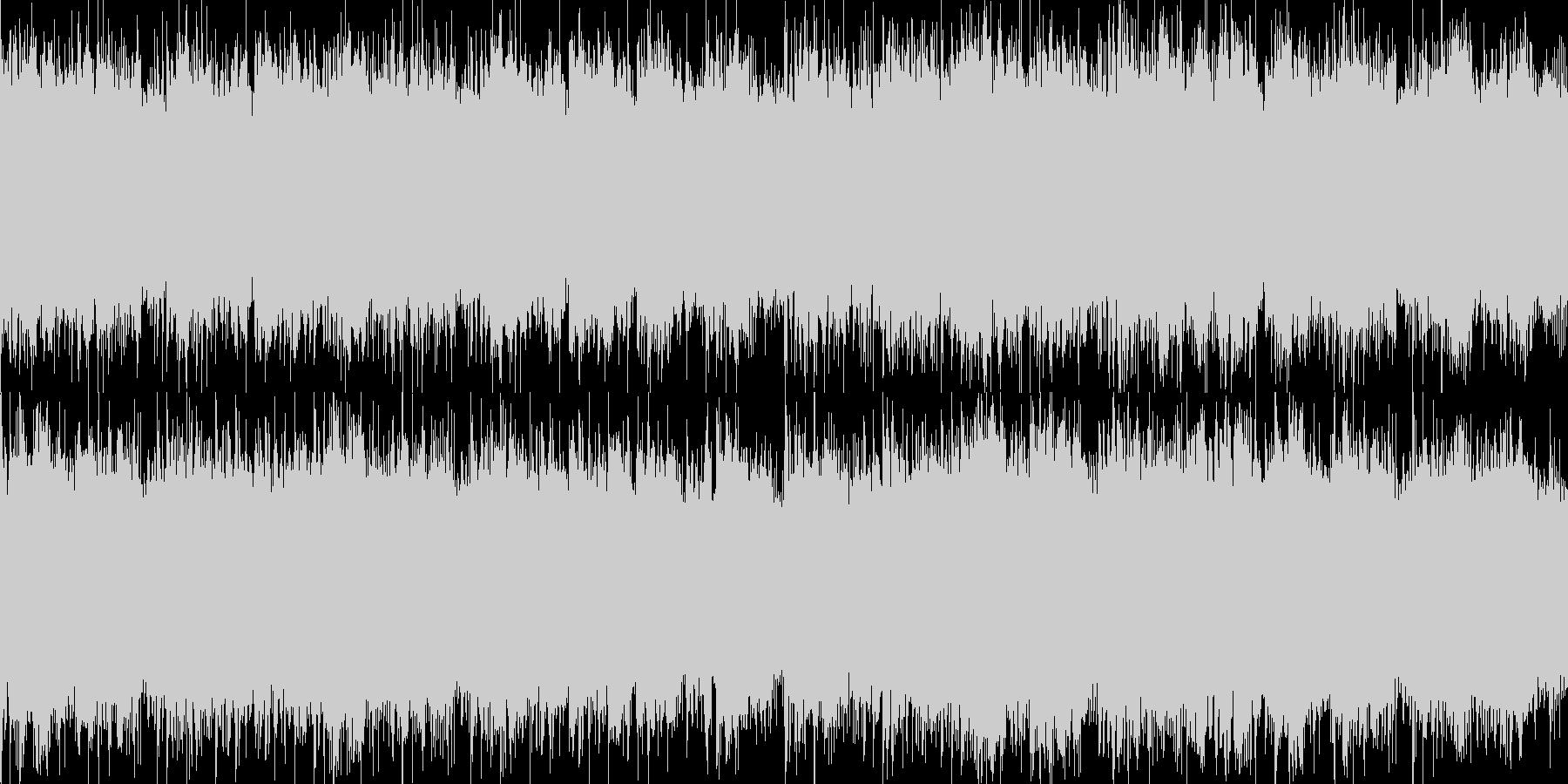 冷酷ホラーBGMの未再生の波形