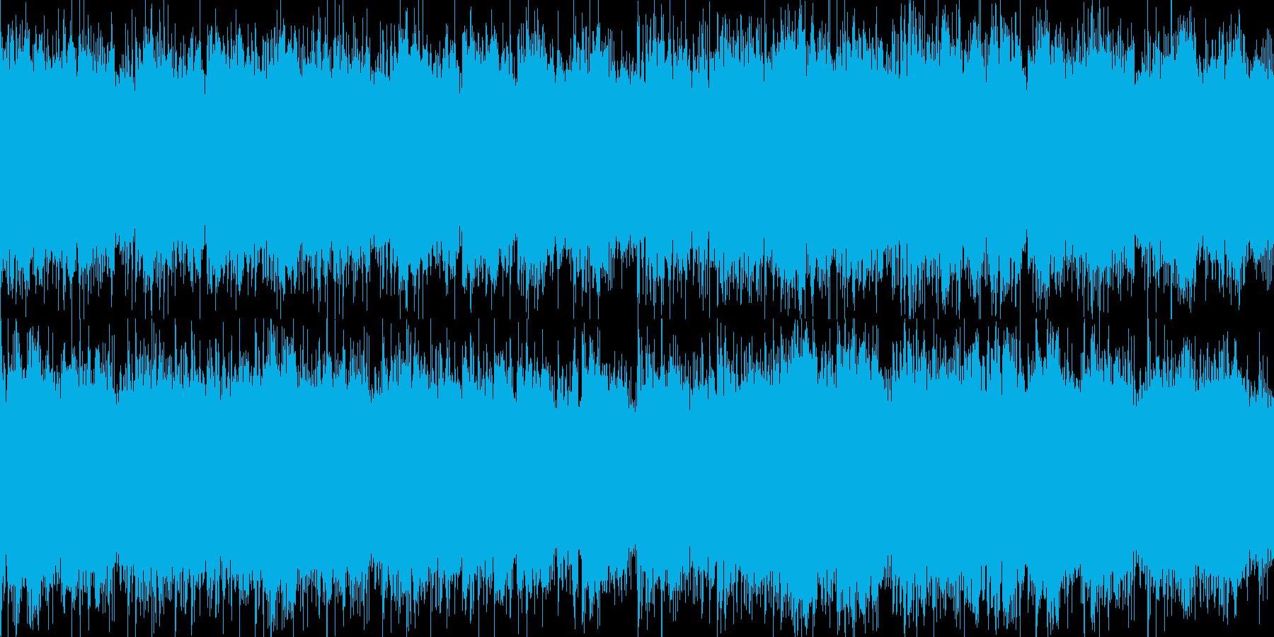 冷酷ホラーBGMの再生済みの波形
