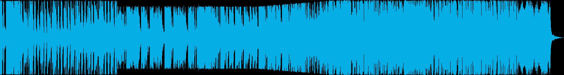 お洒落系ゲームBGMの再生済みの波形