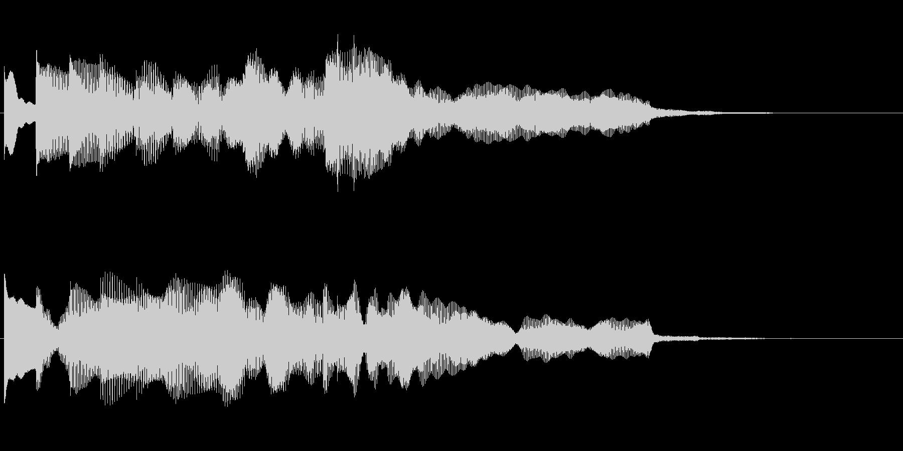 サウンドロゴ チャイムの未再生の波形