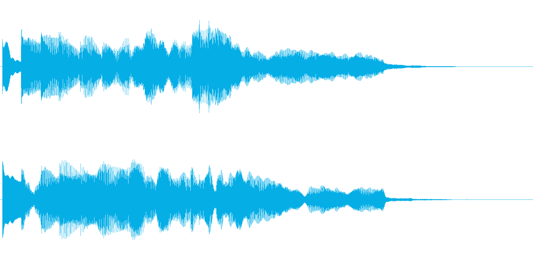 サウンドロゴ チャイムの再生済みの波形