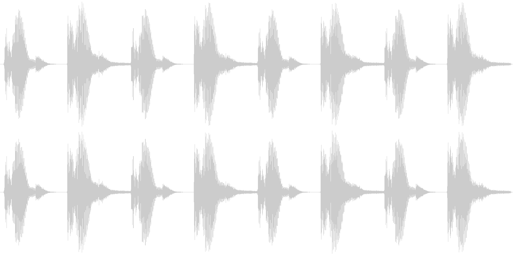 ダンスリズムベーシックパターンの未再生の波形