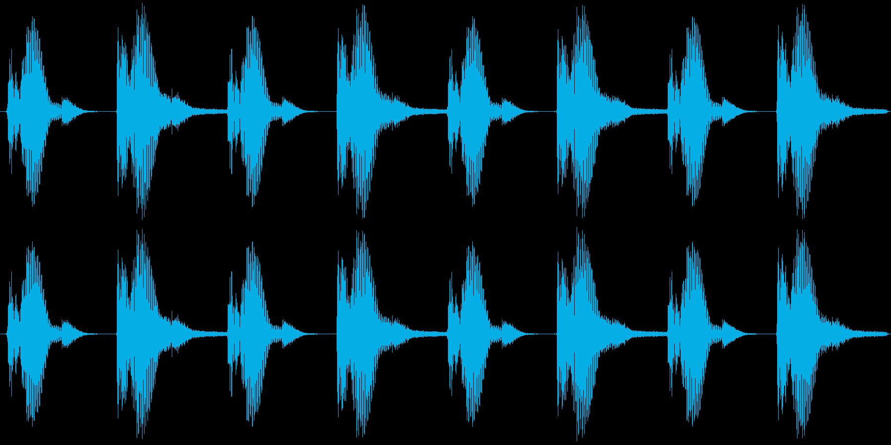 ダンスリズムベーシックパターンの再生済みの波形