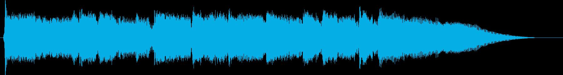 ジングル のどかなバイオリンの再生済みの波形