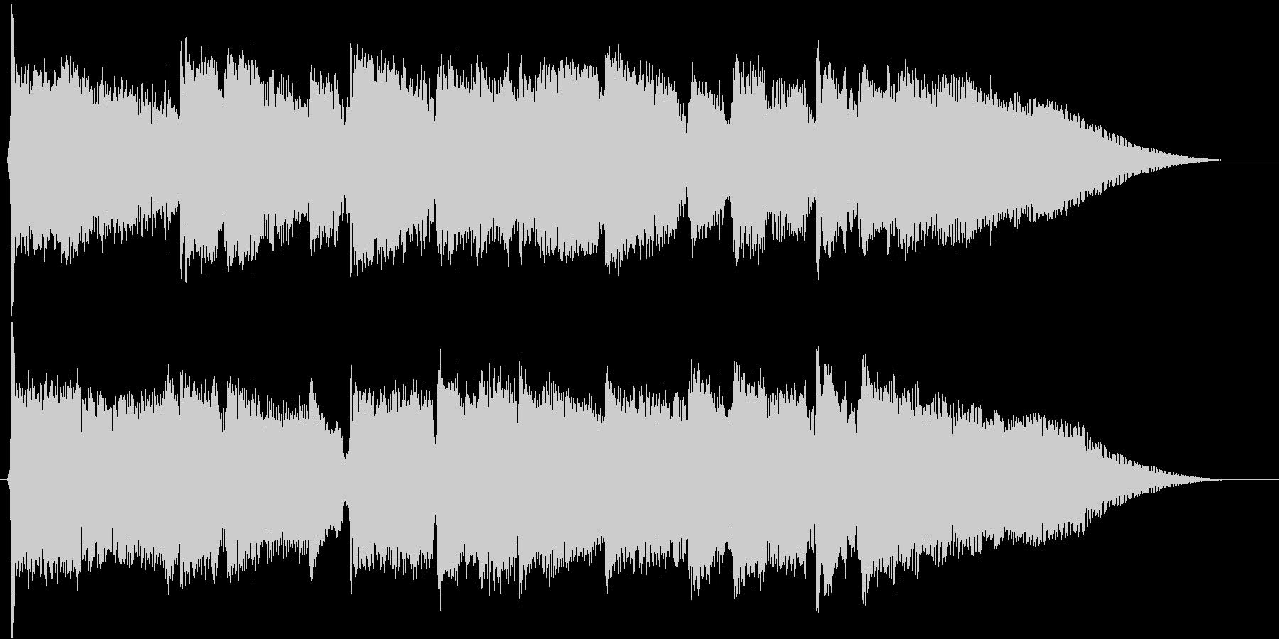 ジングル のどかなバイオリンの未再生の波形