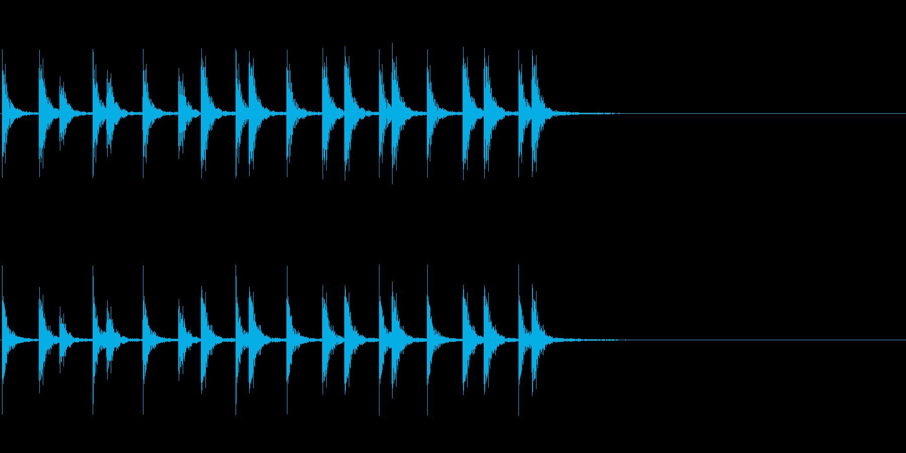 相撲の触れ太鼓「大拍子」フレーズ音2FXの再生済みの波形