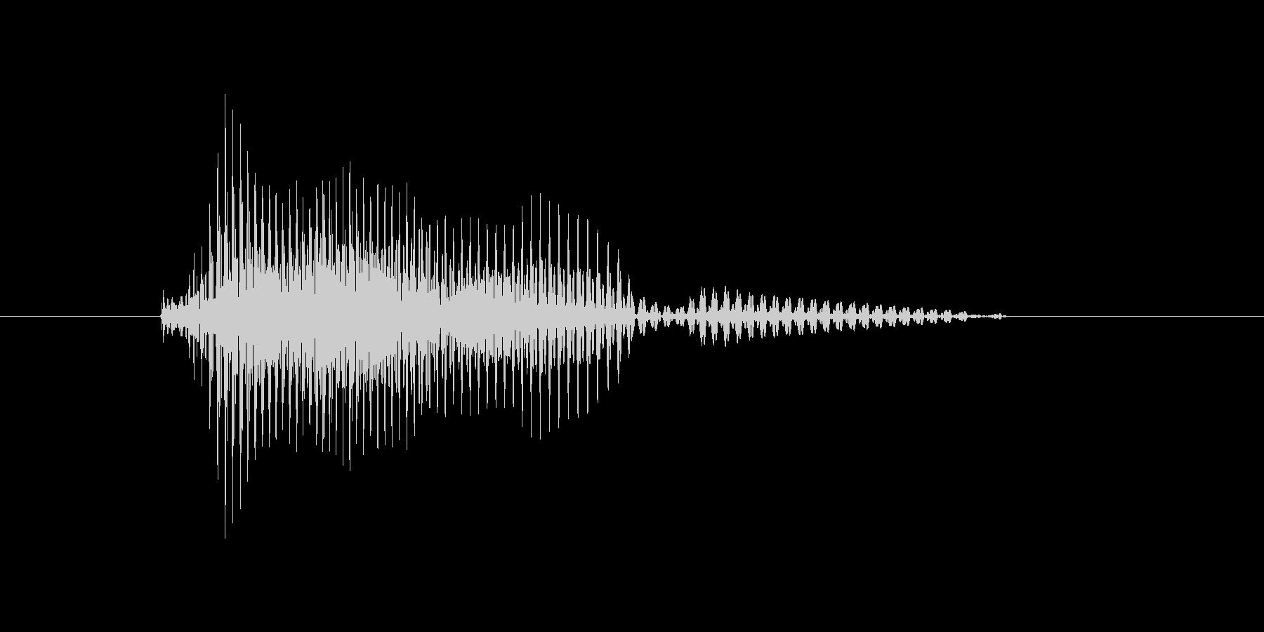 タイムリーの未再生の波形