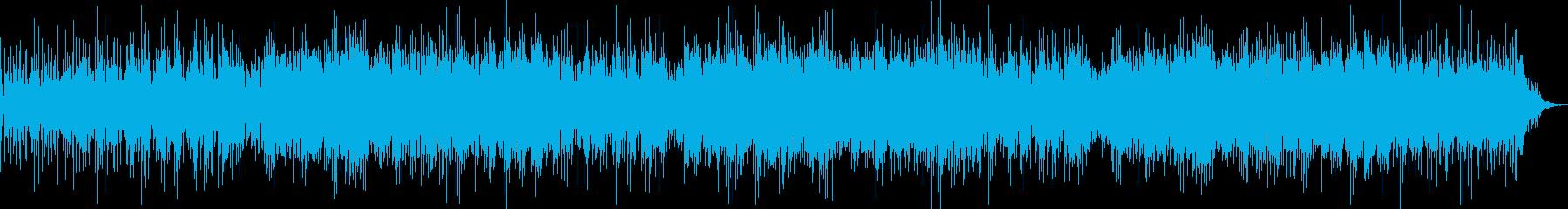 穏やかなギターボサノヴァ風サウンドの再生済みの波形