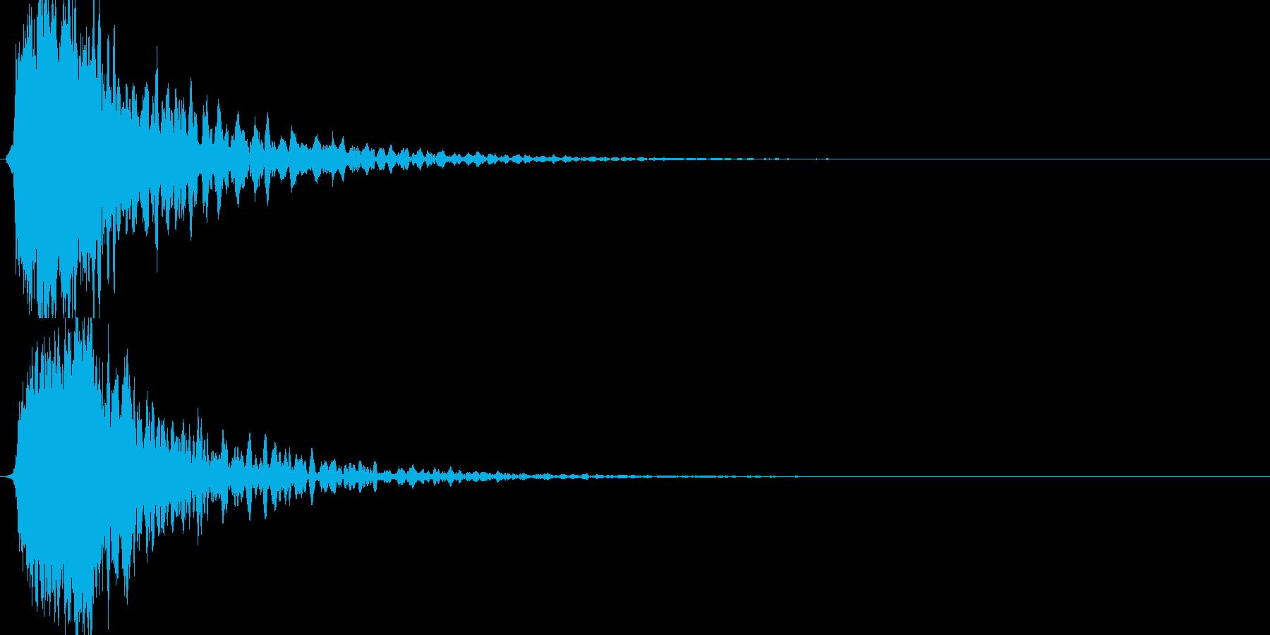 シャキーン!ド派手なインパクトに!1BVの再生済みの波形
