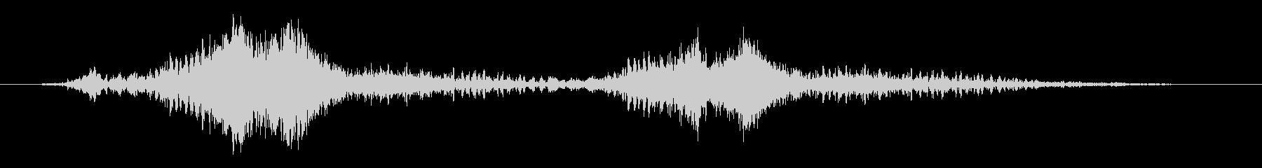 シャキーンボウッ(2回炎の剣を振った音)の未再生の波形
