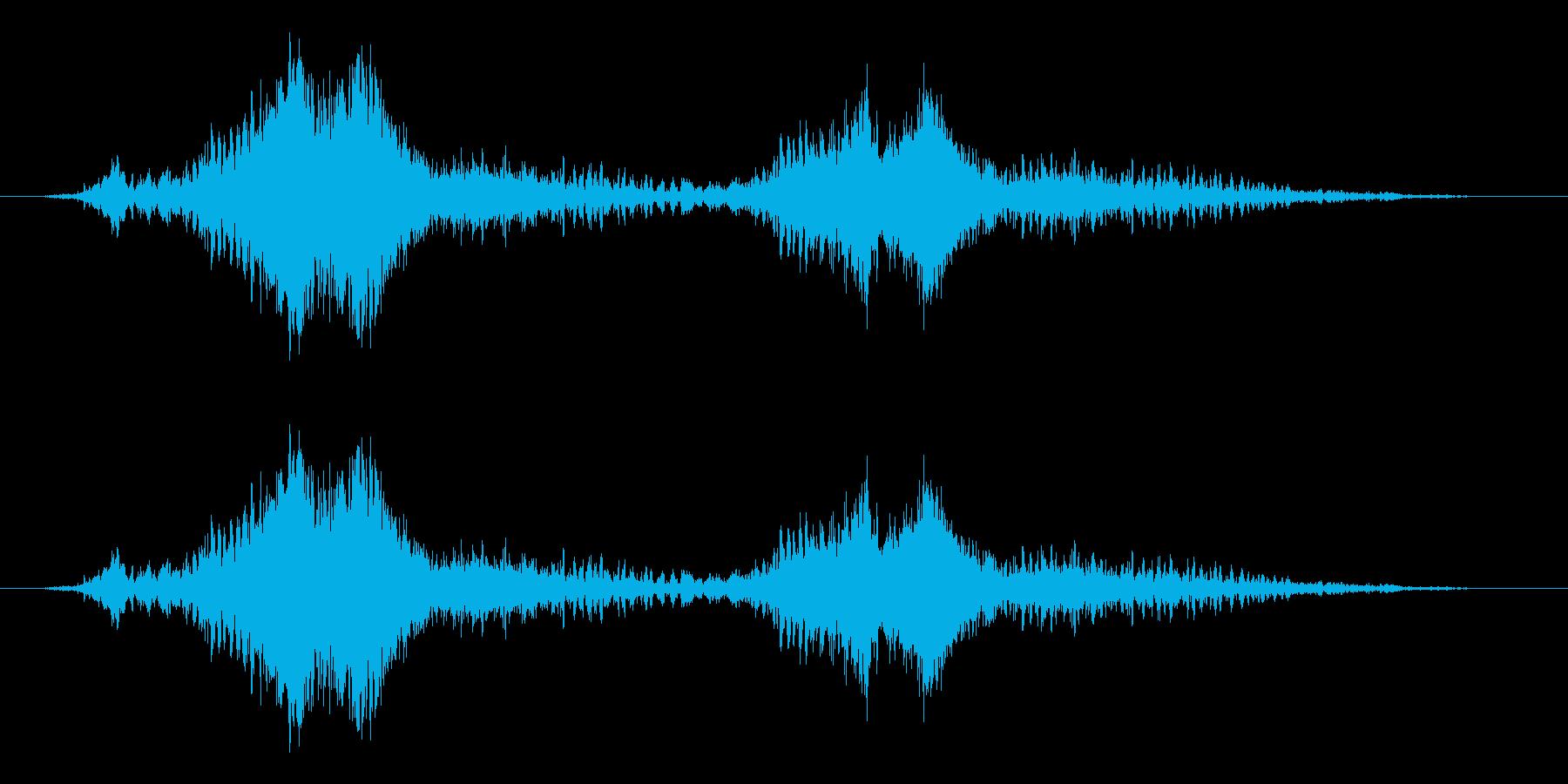 シャキーンボウッ(2回炎の剣を振った音)の再生済みの波形