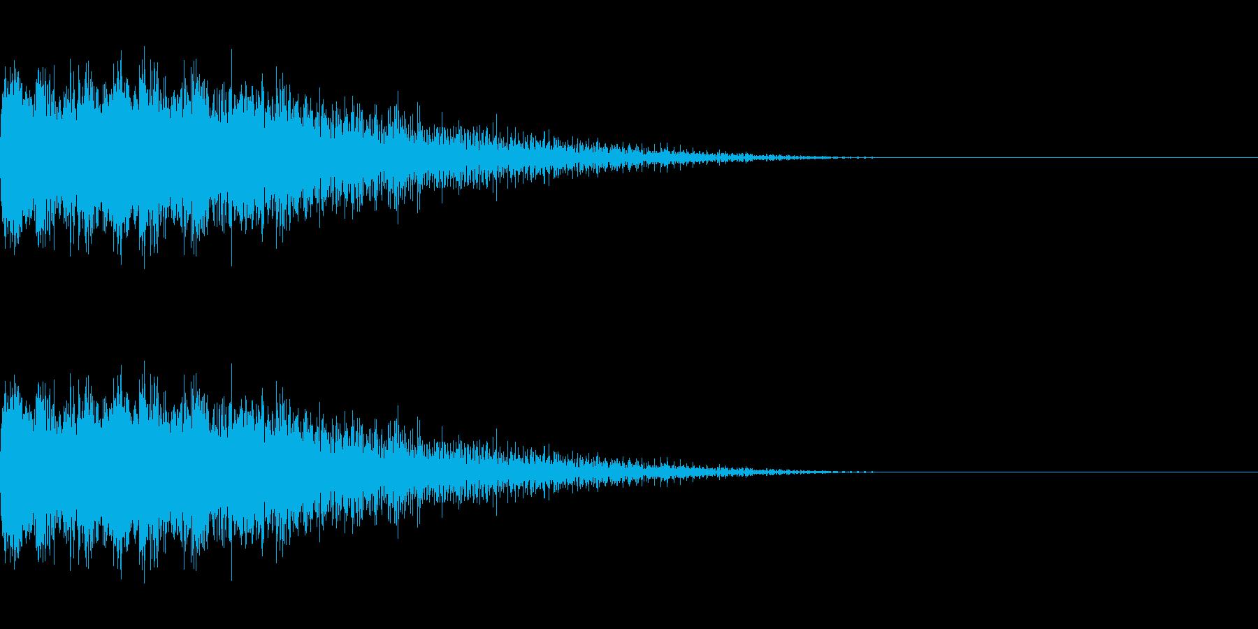 ピユーン(低下_エフェクト_ダウン)の再生済みの波形