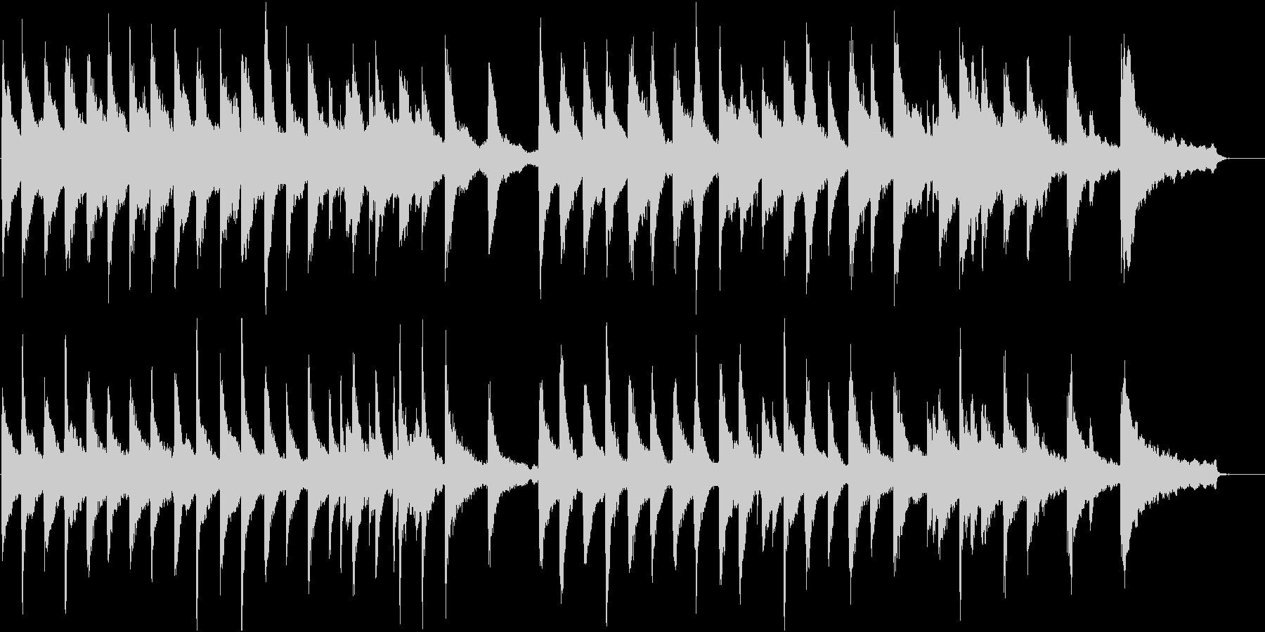 静けさを表すピアノ曲。静かな森のイメージの未再生の波形