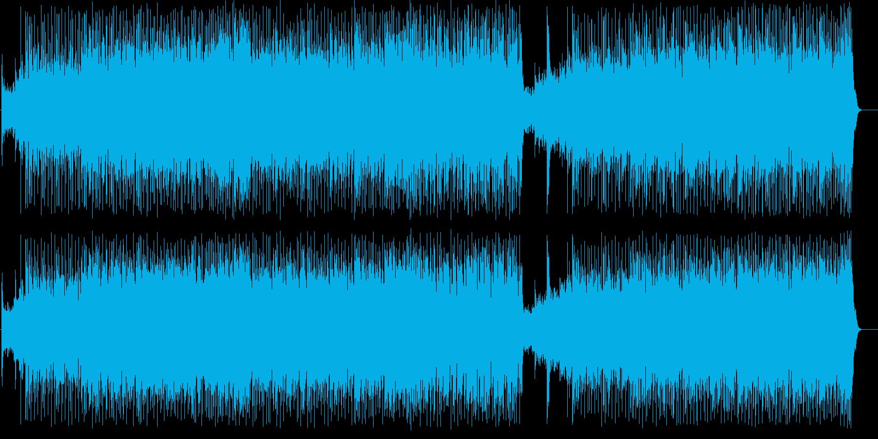 ギターによるマイナー調のポップスの再生済みの波形