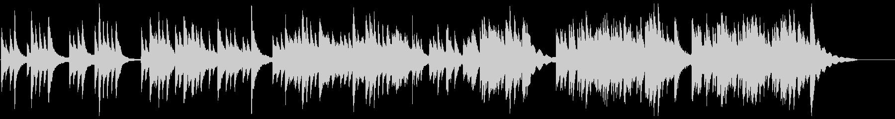 ゆったりとした、琴の和風曲の未再生の波形