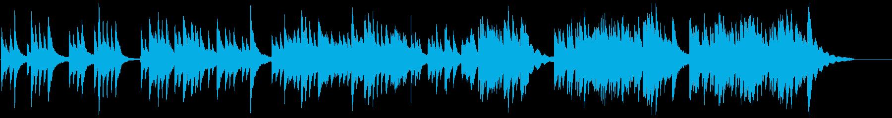 ゆったりとした、琴の和風曲の再生済みの波形