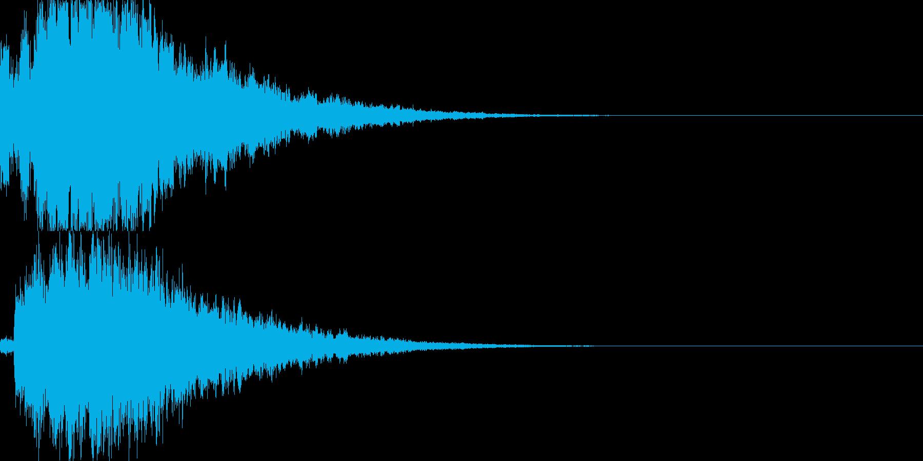 システム音27_シンセDXの再生済みの波形