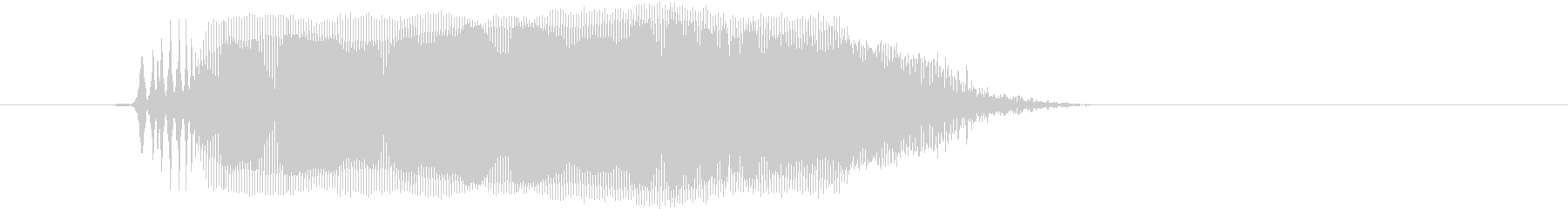「うぅー」の未再生の波形