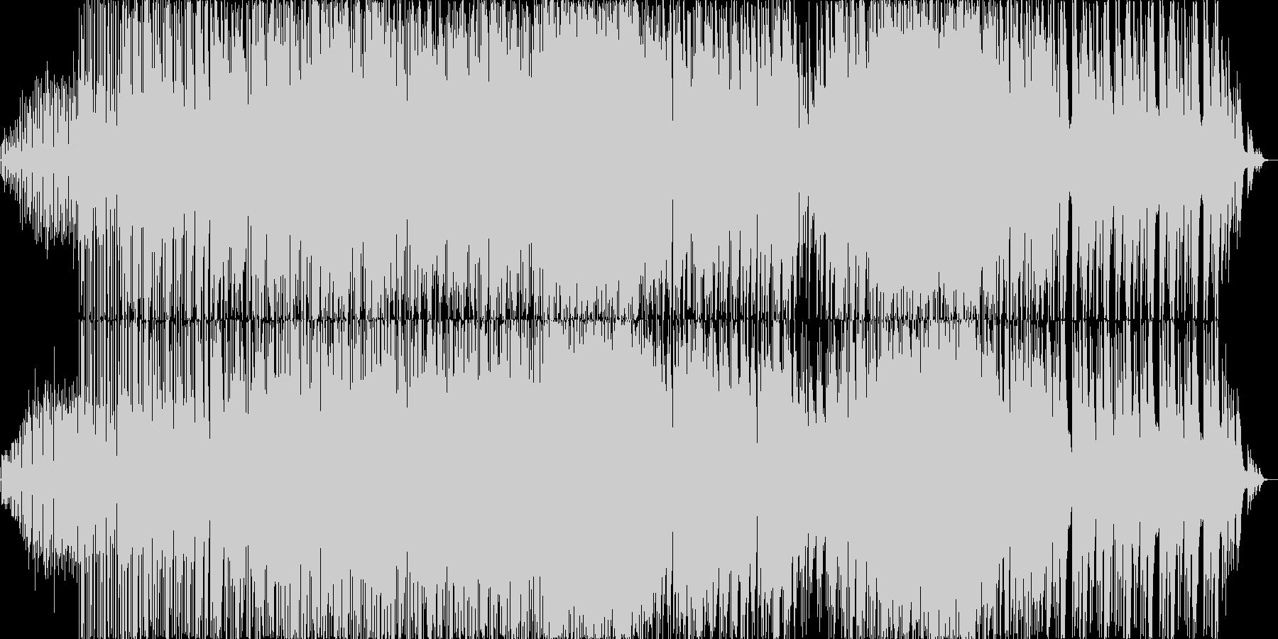 優しいアコースティック音源とビートの楽曲の未再生の波形