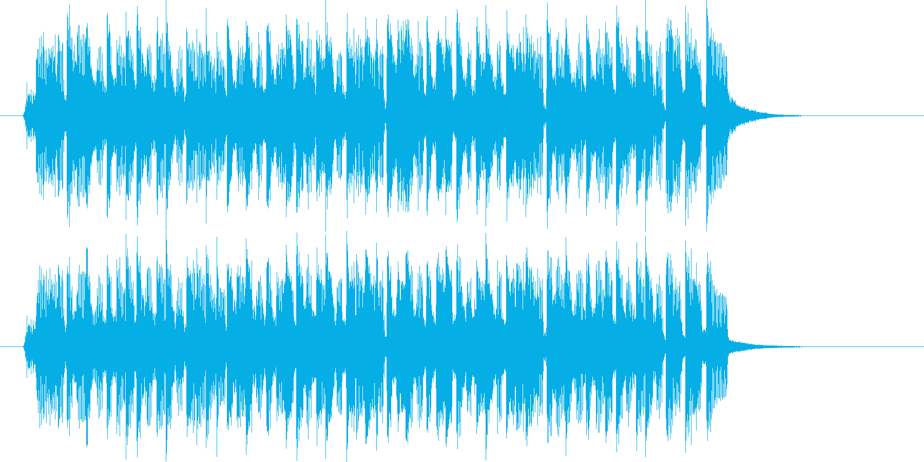 ピアノとシンセのロックンロールの再生済みの波形
