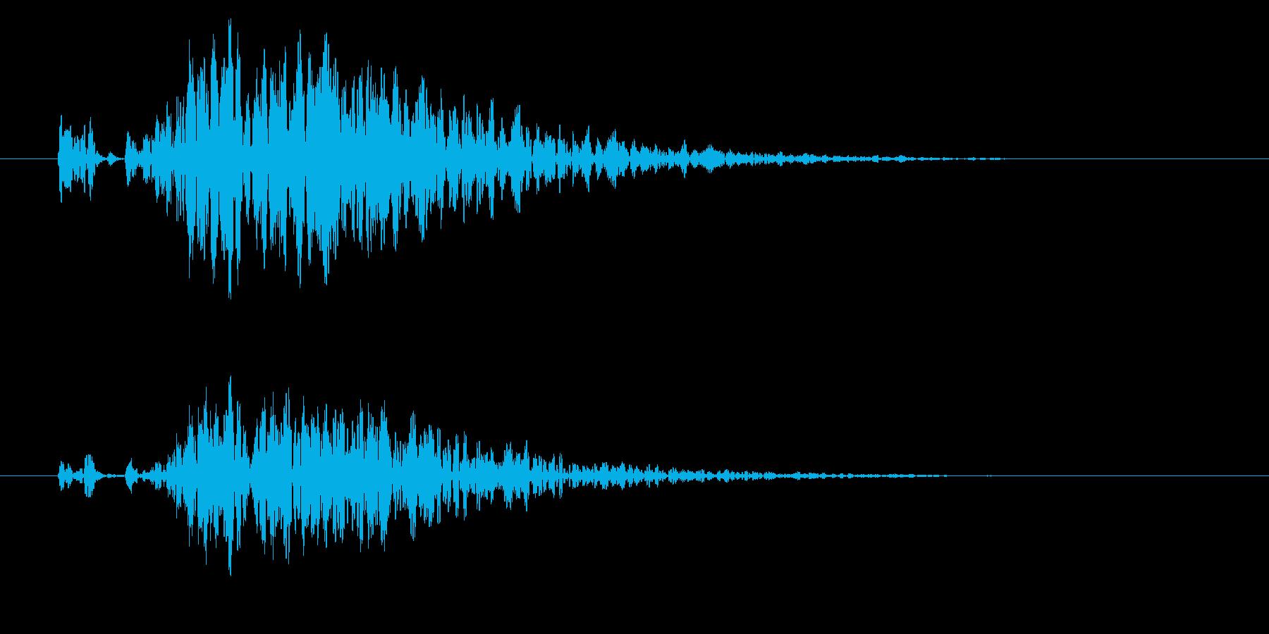 怪しげな鳴動の再生済みの波形