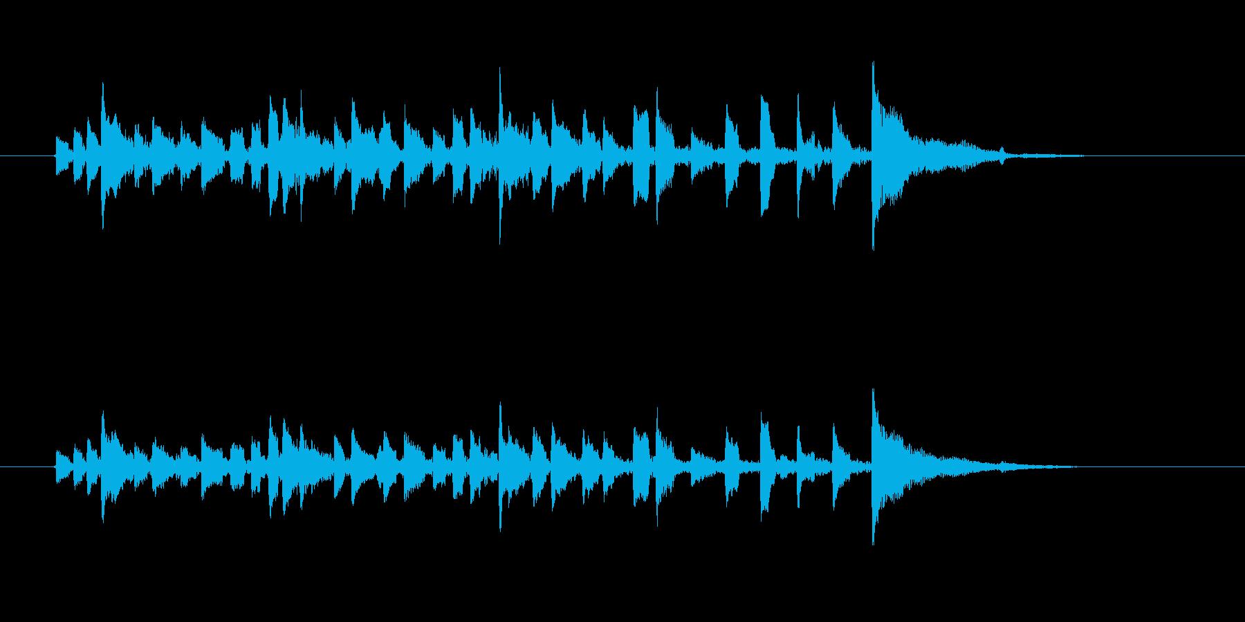 望郷のアコースティックギターの再生済みの波形
