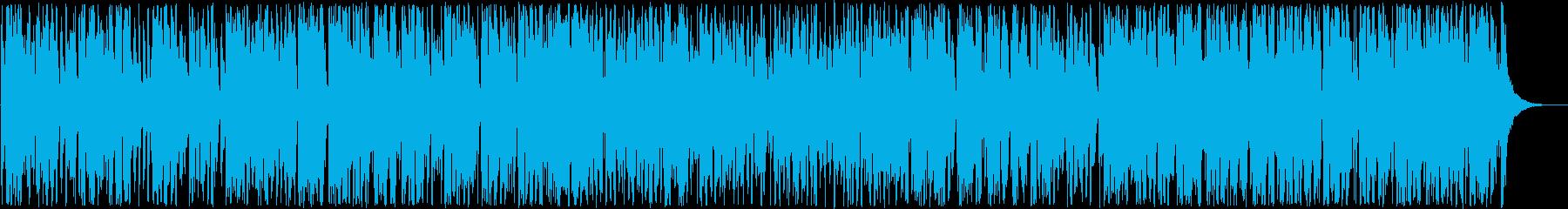陽気なシンセ・管楽器・打楽器ラテン系の再生済みの波形