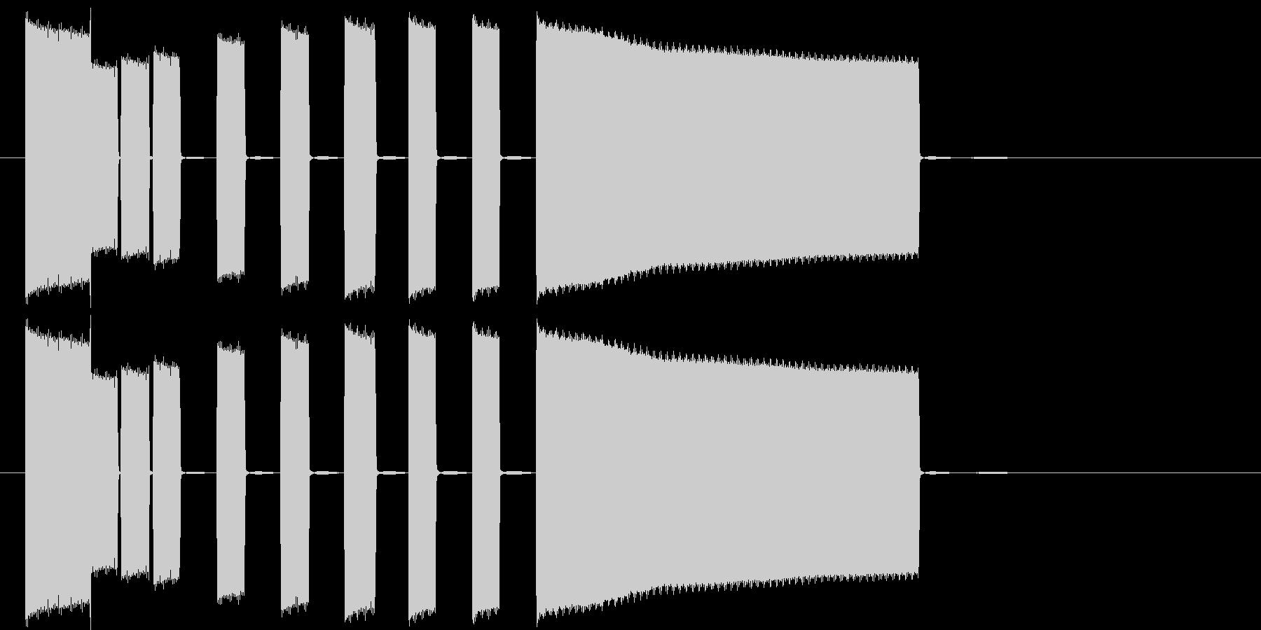 テンションの高まるシンセポップスの未再生の波形