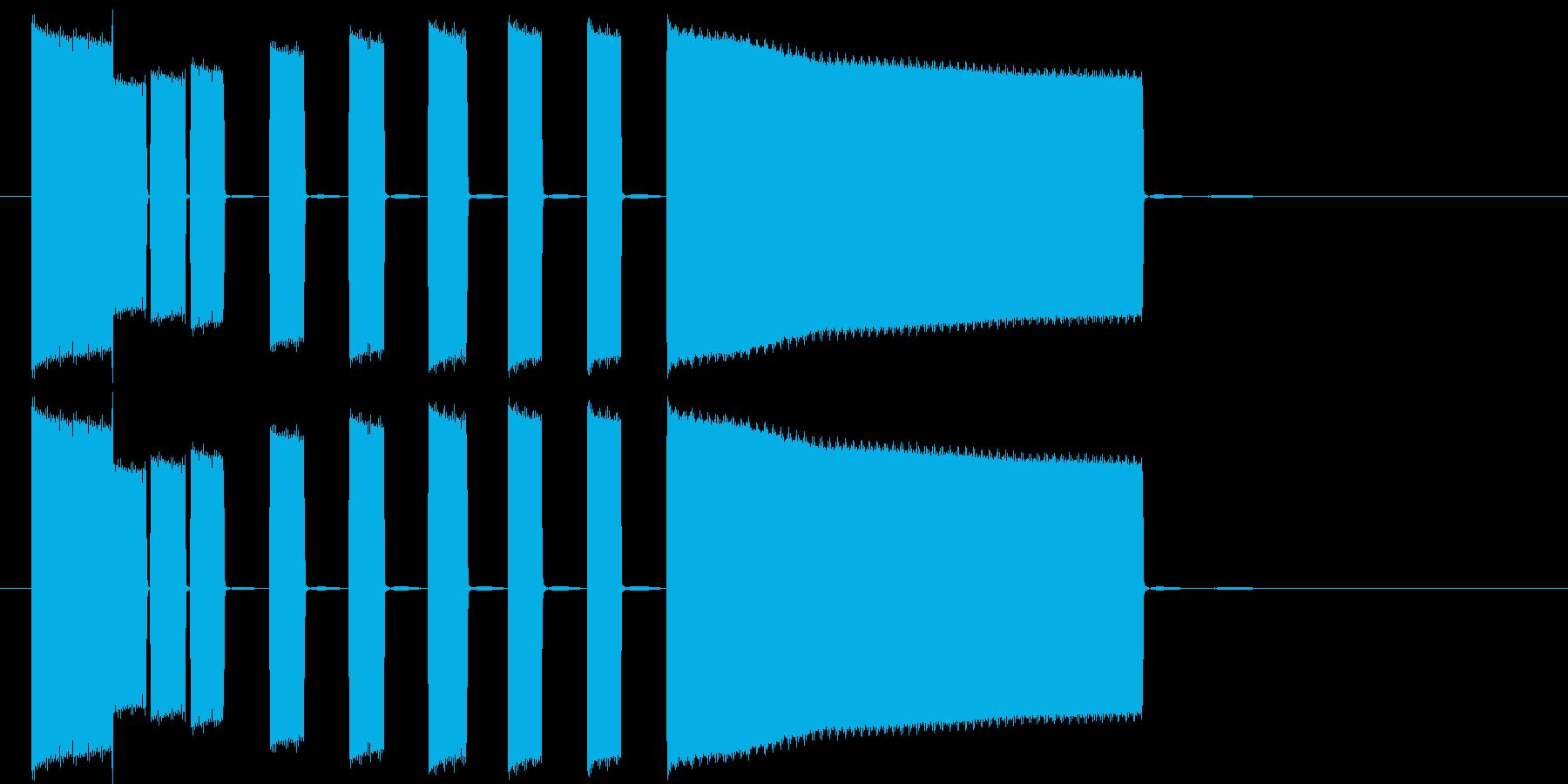 テンションの高まるシンセポップスの再生済みの波形