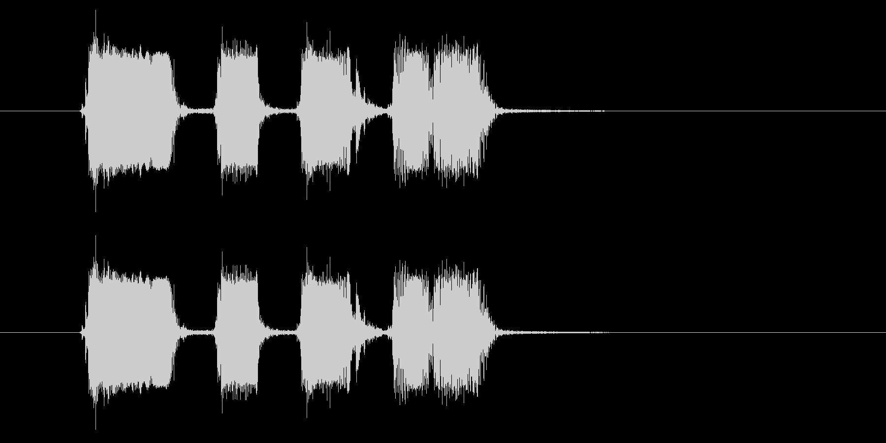リズミカルギター音(弦、弾く)の未再生の波形