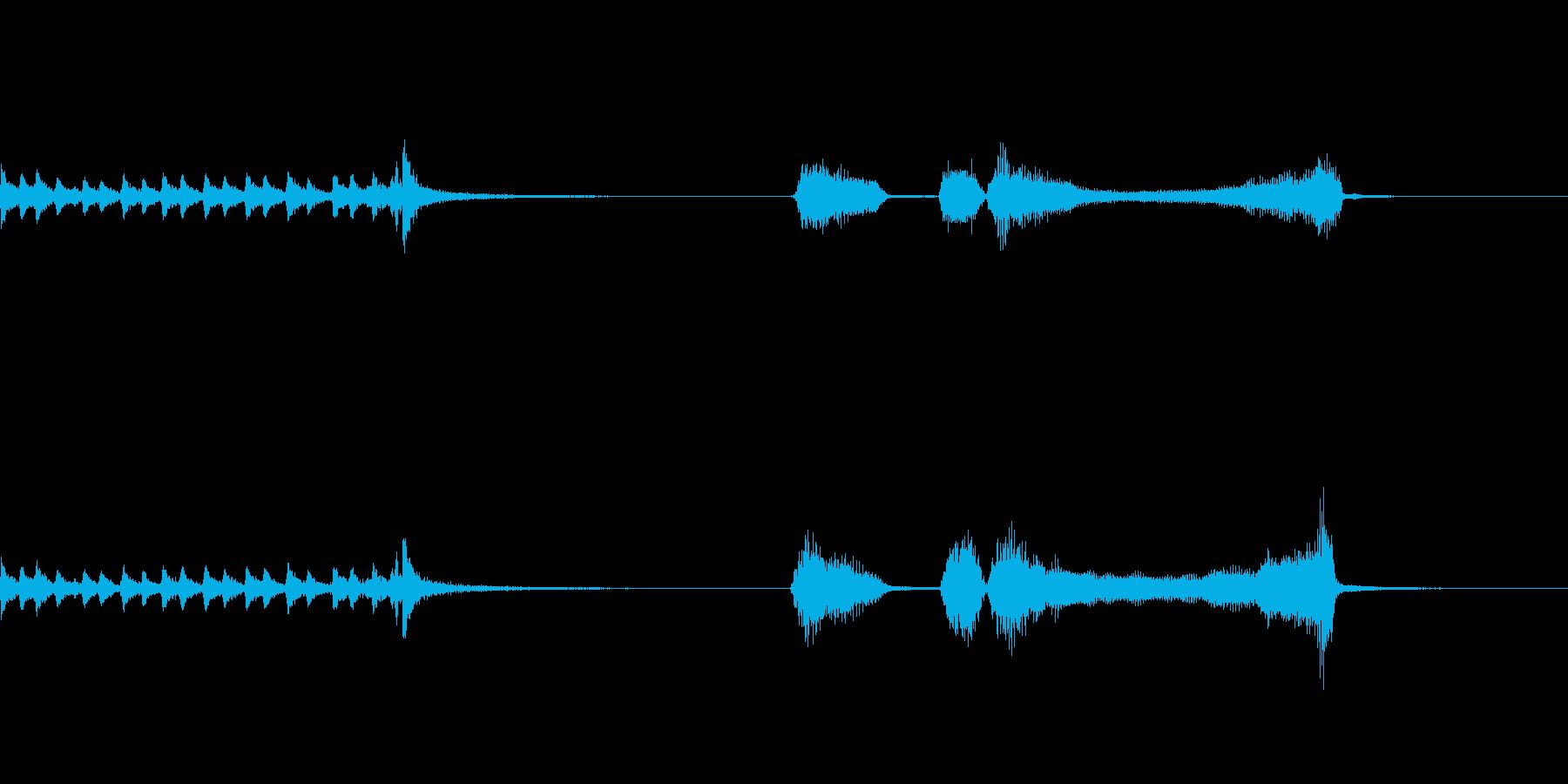 ドラムロールからのパッパパーの再生済みの波形