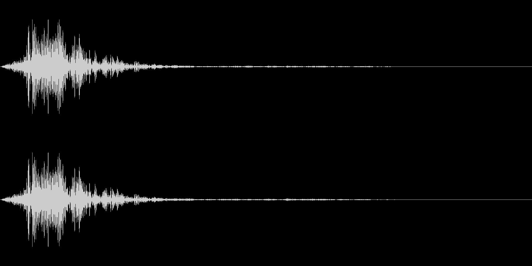 シュッ(棒状の物を降る音)の未再生の波形