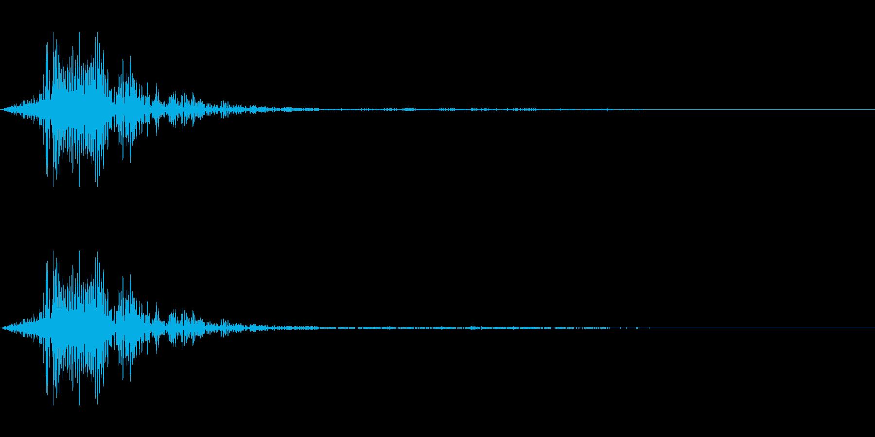 シュッ(棒状の物を降る音)の再生済みの波形