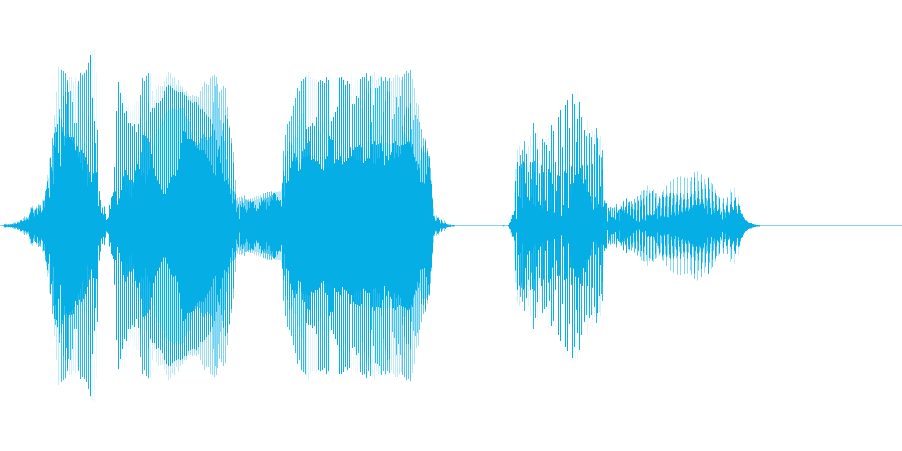 km(キロメートル)の再生済みの波形