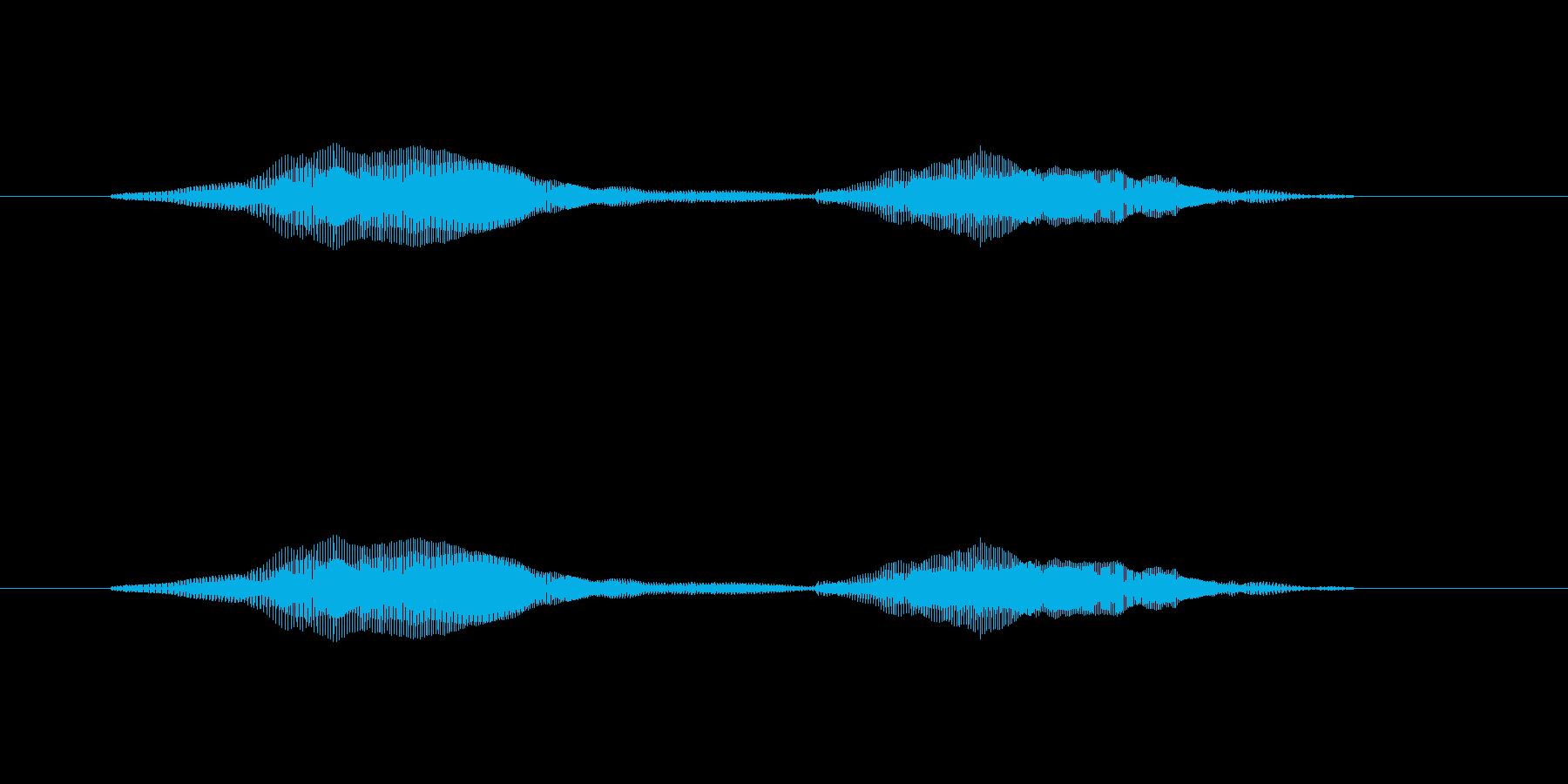 ニャー_猫声-24の再生済みの波形