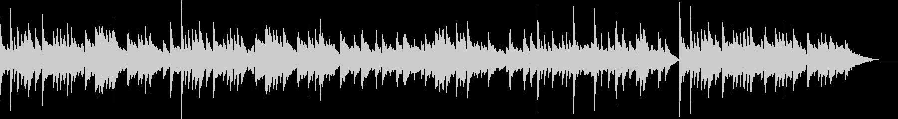 場面展開的なピアノ曲の未再生の波形