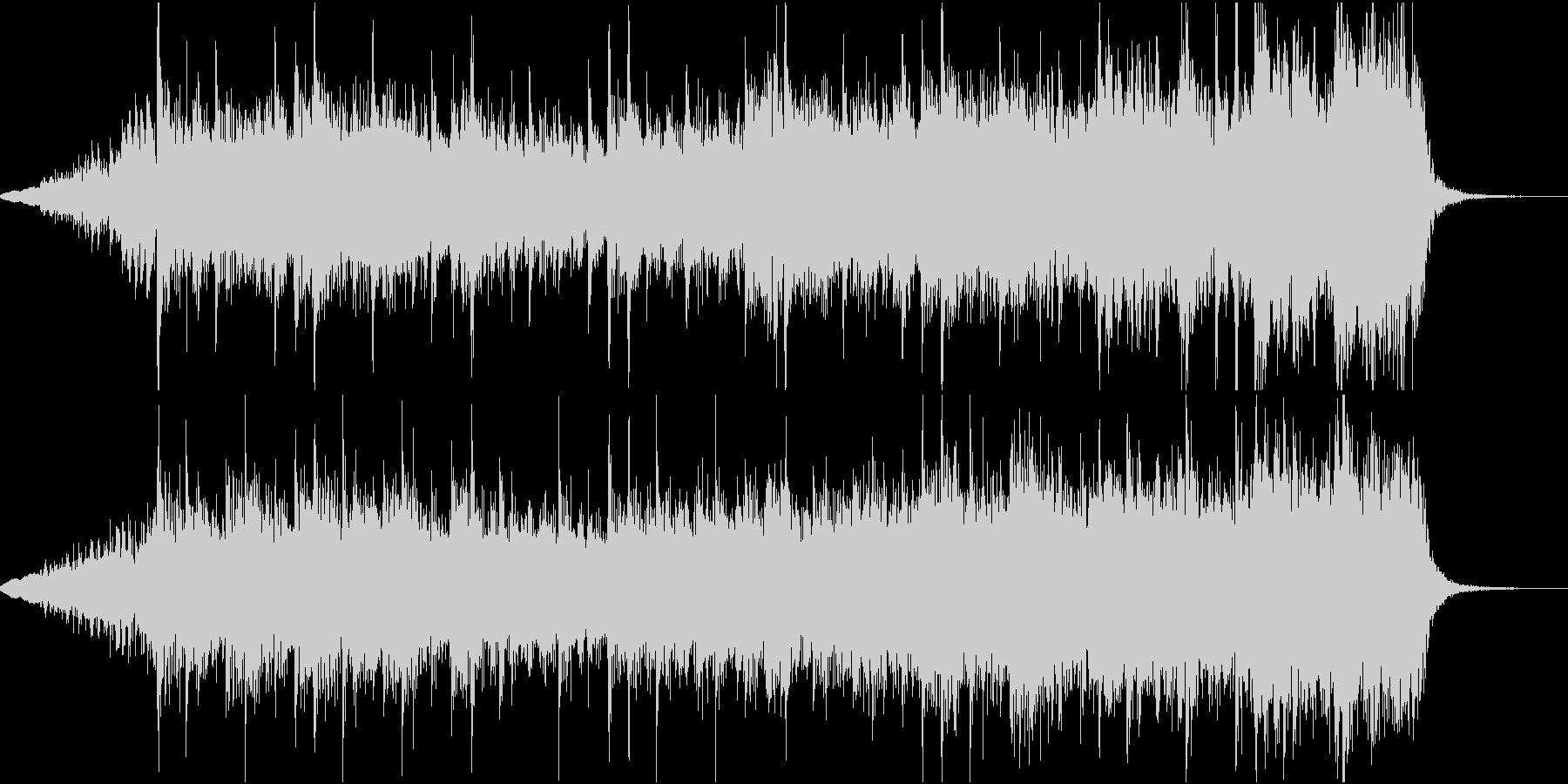 最終決戦前のBGMの未再生の波形