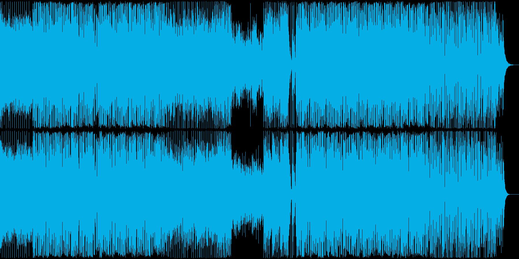 EDMシンプルで力強いクラブ系ハウス音楽の再生済みの波形