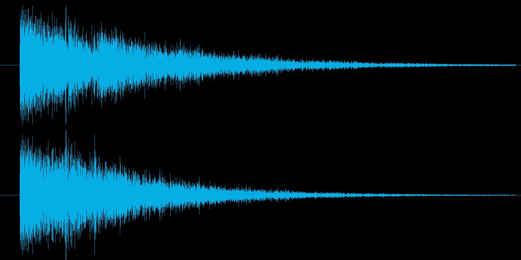 ガシャーン...ゴロゴロ(強い雷)の再生済みの波形