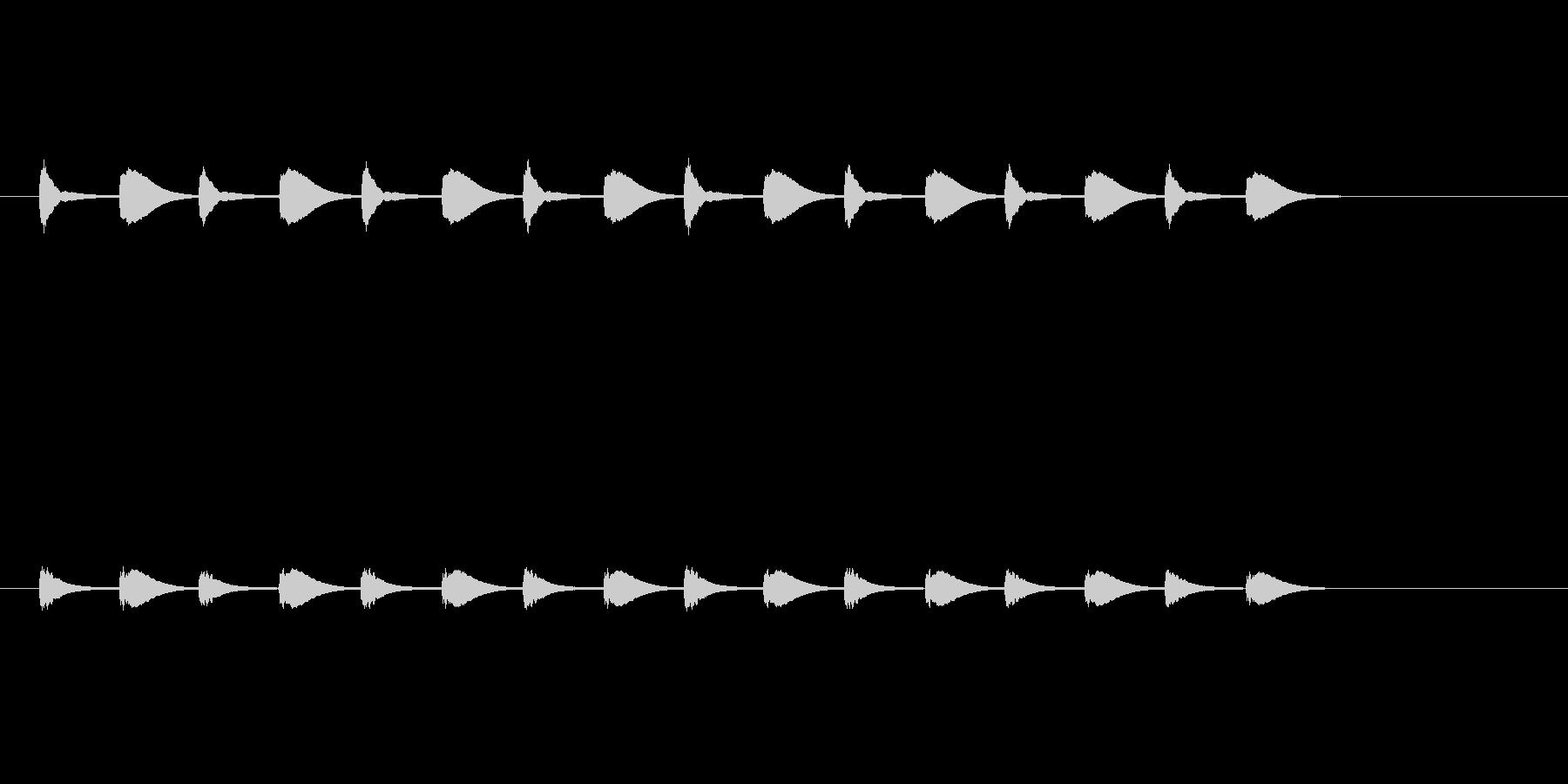 考え中…の未再生の波形