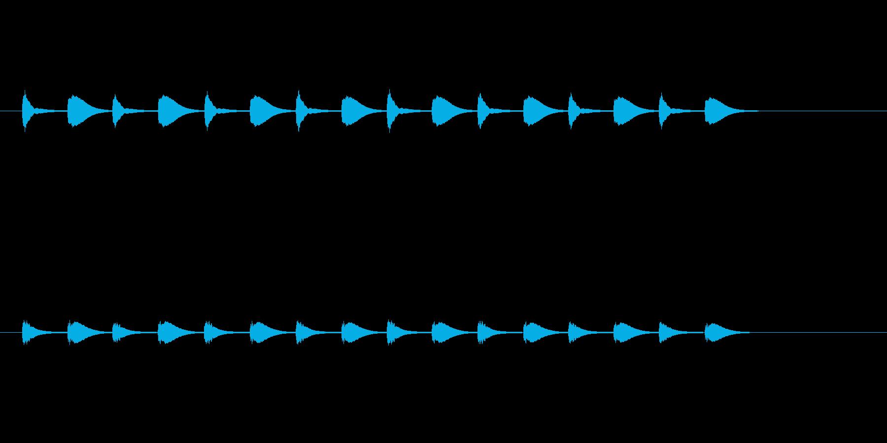 考え中…の再生済みの波形